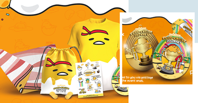 New Gudetama Walk, Not Run, In Singapore Comes With Free Merchandise & A Medal