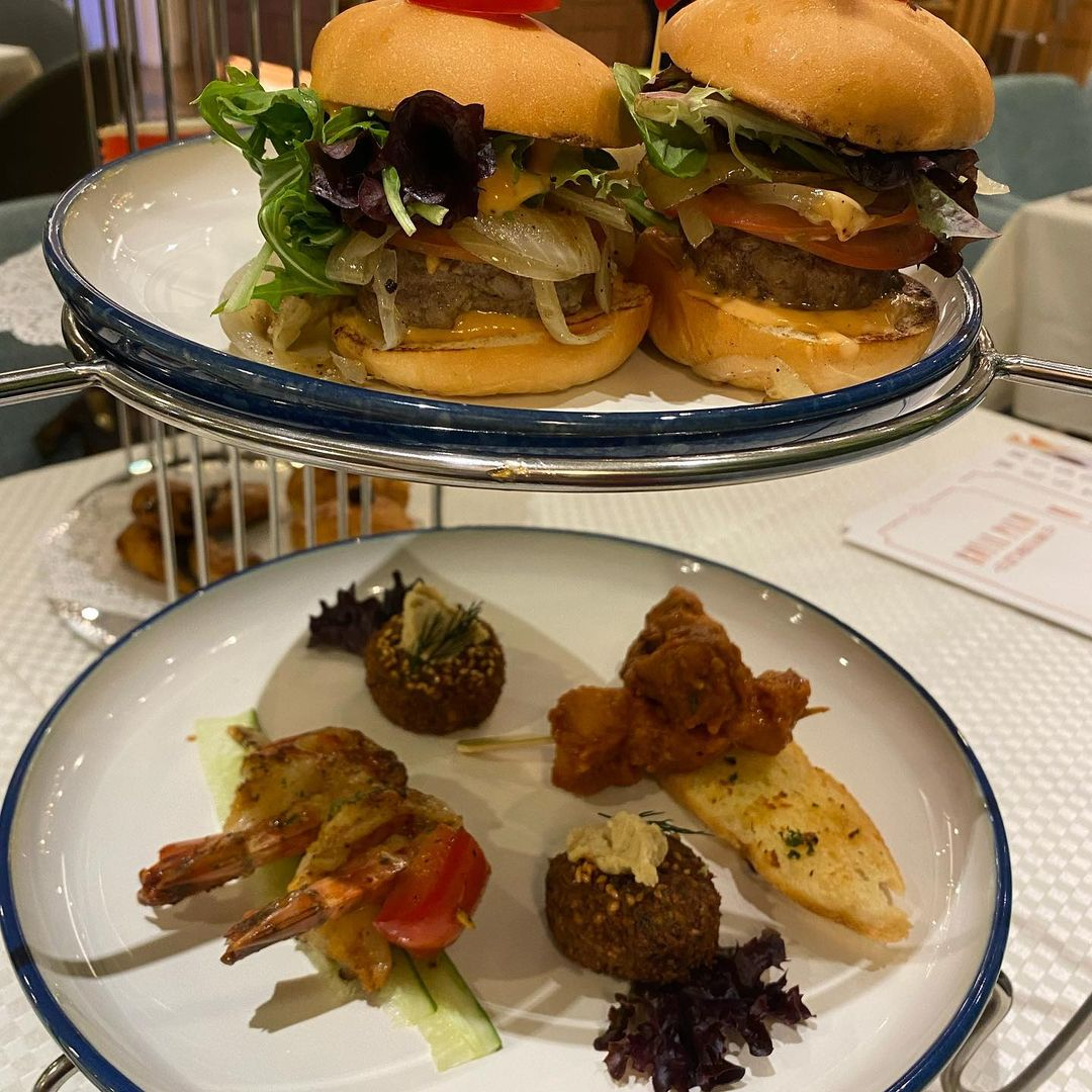afternoon tea food at Royal Palm Meat & Dine singapore