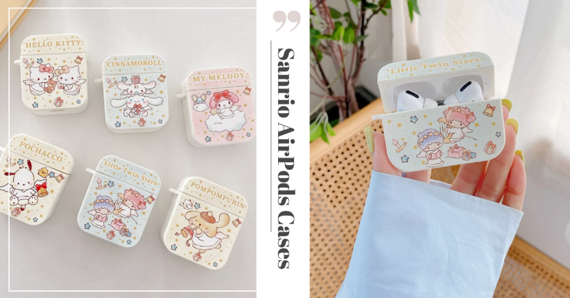 Adorable Sanrio-Themed AirPods Cases In Lovely Pastels Come In 6 Designs, Available In Singapore