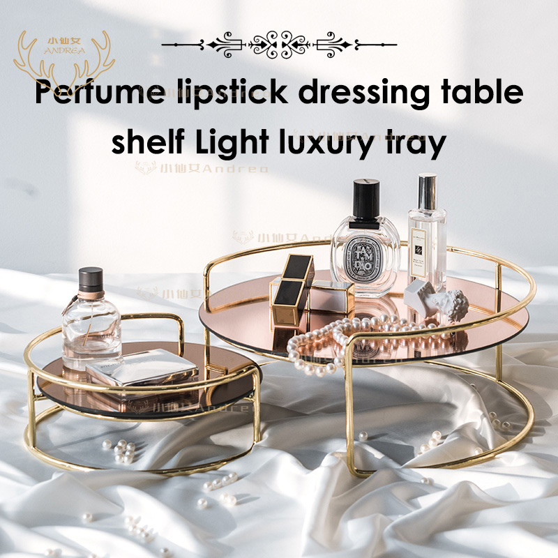 Gold perfume display from Shopee