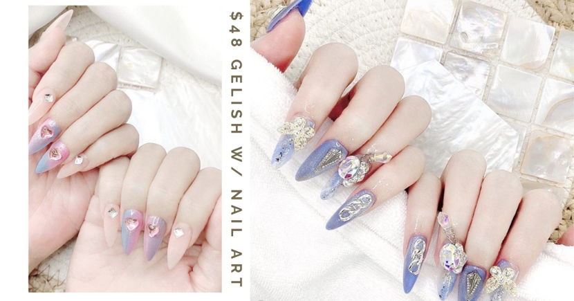 Nail Salon At Dhoby Has $48 Gel Manicures With Unlimited Designs Including Nail Art & Bling