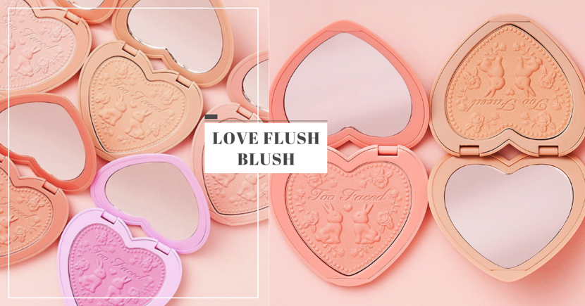 New Too Faced Love Flush Blush: Cute Heart-Shaped Blusher With Bunny & Rose Design, Now In Singapore
