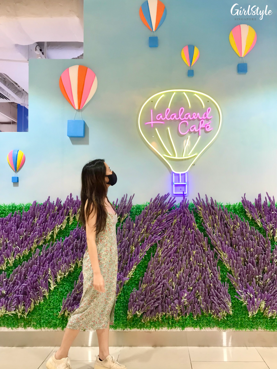 lalaland cafe sembawang shopping centre lavender flower field singapore