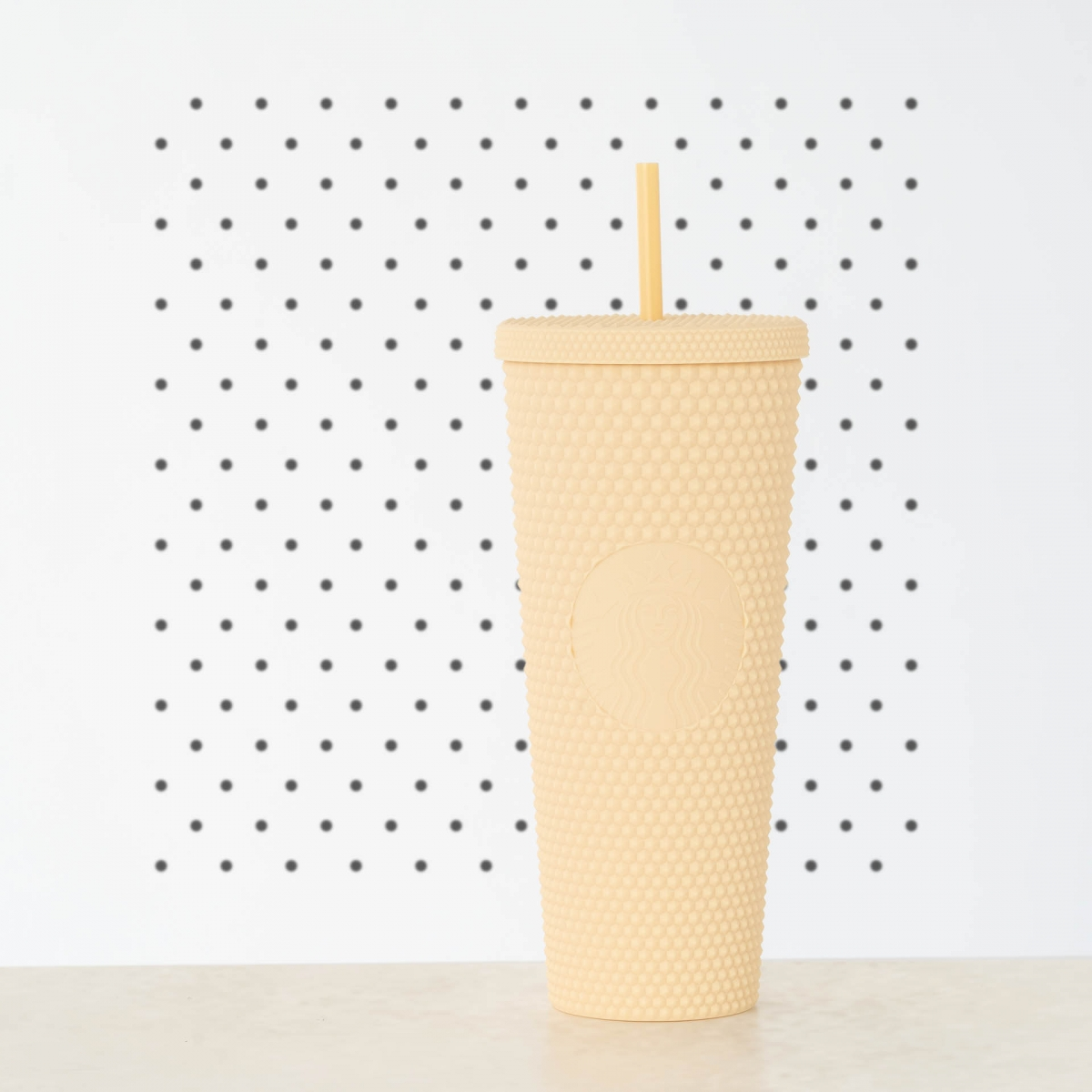 starbucks singapore joy of connection pastel yellow studded cold cup
