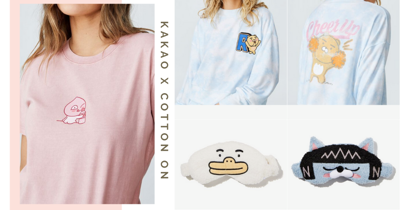 Cotton On Singapore Has A New KAKAO FRIENDS Loungewear Collection Ft. Tees, Pyjamas, & Accessories