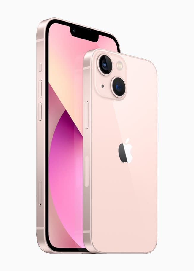 Apple iphone 13 in pastel pink