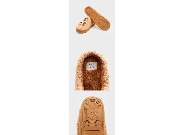 Daiso Korea x Chip 'n' Dale bedroom slippers collection featuring anti-slip soles