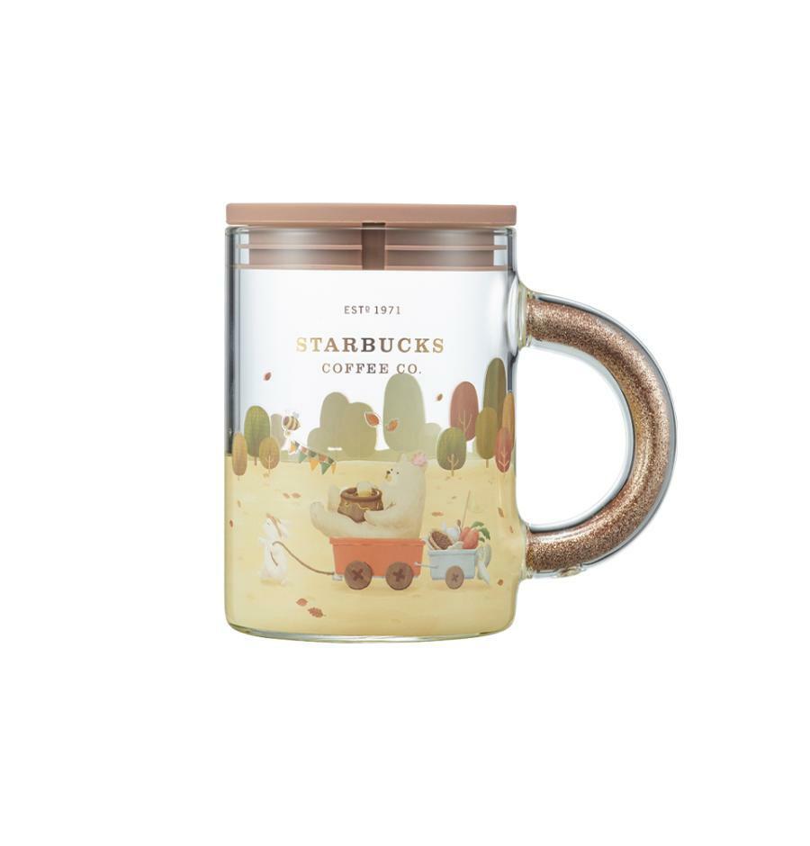 Starbucks Korea Autumn collection 2021_Autumn Handle Glitter Glass & Lid