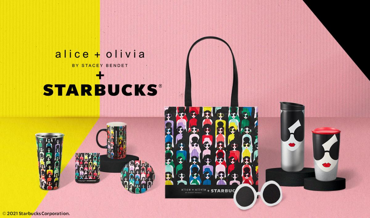 starbucks singapore Alice Olivia drinkware bags merchandise 2021
