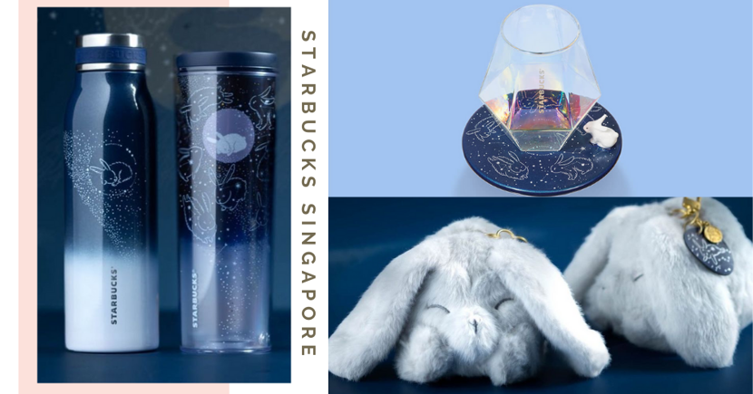 Starbucks Singapore's Mid-Autumn 2021 Merch Features Cute Bunny Motifs & Ethereal Constellation Patterns