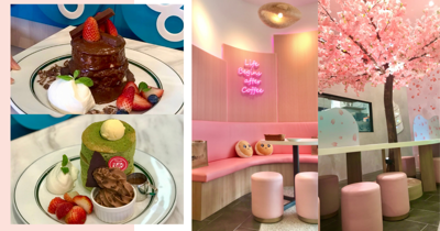 Newly Renovated Gram Cafe In Singapore: Cherry Blossoms, Pink Backdrops & New Kit Kat Matcha Soufflé Pancakes