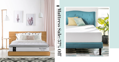 There's A Big Mattress Sale With Up To 57% Off Pocketed Spring, Memory Foam, & Hybrid Mattresses