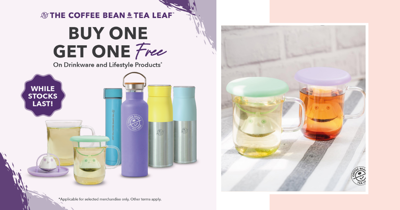 The Coffee Bean & Tea Leaf Is Having A 1-For-1 Promo On Selected Lifestyle And Drinkware Items
